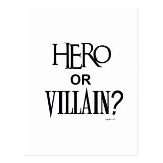 Hero or Villian Postcard