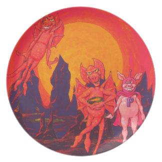 Hero Pig on Mercury Plate