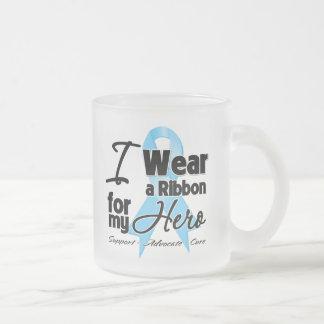 Hero - Prostate Cancer Ribbon 10 Oz Frosted Glass Coffee Mug