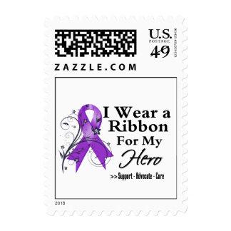 Hero Purple Ribbon - Pancreatic Cancer Stamps
