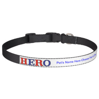 HERO Red, White, and Blue Pet Collar