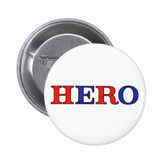 HERO Red, White, and Blue Pinback Button