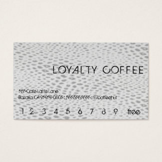 Hero Snakeskin Loyalty Coffee Punchcard Business Card