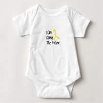 Hero Strong Childhood Cancer Awareness support Baby Bodysuit