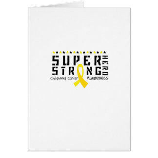 Hero Strong Childhood Cancer Awareness support Card