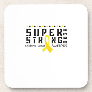 Hero Strong Childhood Cancer Awareness support Coaster