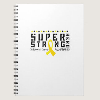 Hero Strong Childhood Cancer Awareness support Notebook