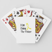 Hero Strong Childhood Cancer Awareness support Playing Cards