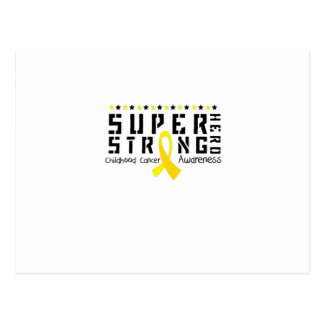 Hero Strong Childhood Cancer Awareness support Postcard
