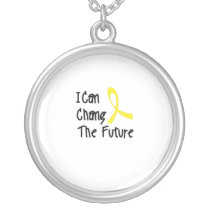 Hero Strong Childhood Cancer Awareness support Silver Plated Necklace