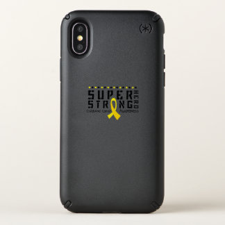 Hero Strong Childhood Cancer Awareness support Speck iPhone X Case