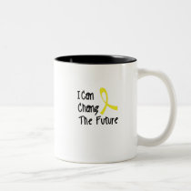 Hero Strong Childhood Cancer Awareness support Two-Tone Coffee Mug