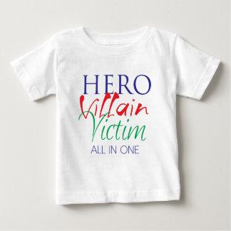 Hero Villain Victim - All in One Baby T-Shirt