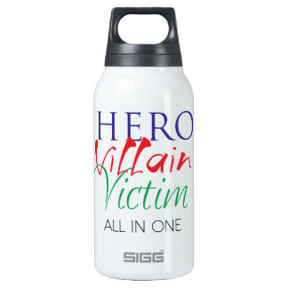 Hero Villain Victim - All in One Insulated Water Bottle