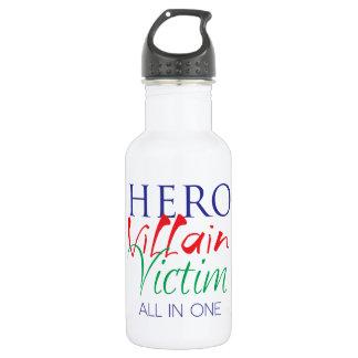 Hero Villain Victim - All in One Water Bottle