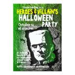 "Hero Villian Halloween Party Invitation 5"" X 7"" Invitation Card"
