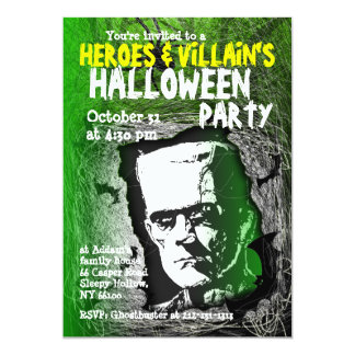 Hero Villian Halloween Party Invitation