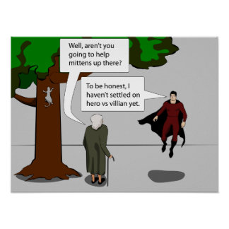 Hero vs Villian Poster