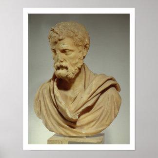 Herodes Atticus, marble head, Roman, 101-80 AD, pr Poster