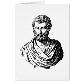 Herodotus bust Greek historian Card
