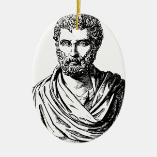 Herodotus bust Greek historian Ceramic Ornament