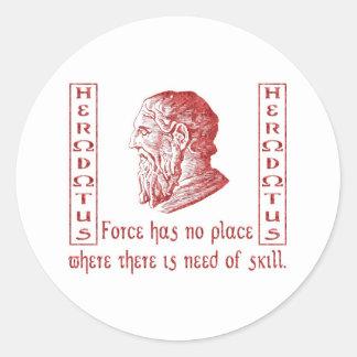 Herodotus Classic Round Sticker