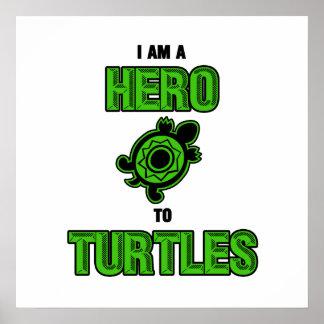 Héroe 1 de la tortuga impresiones