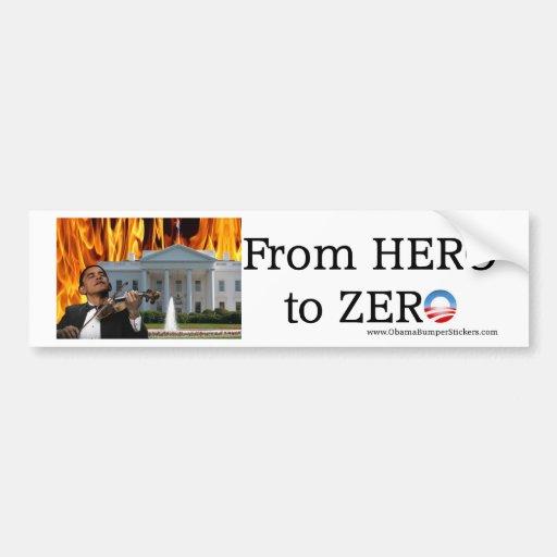 Héroe a Zero2 Etiqueta De Parachoque