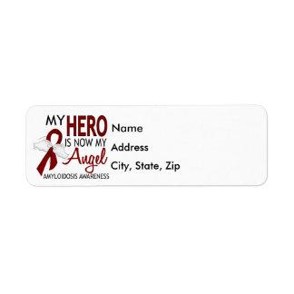 Héroe ahora mi Amyloidosis del ángel Etiquetas De Remite