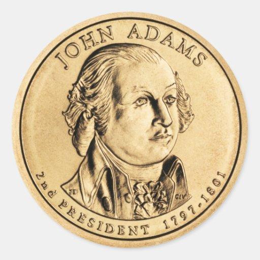 Héroe americano - Adams Pegatina Redonda