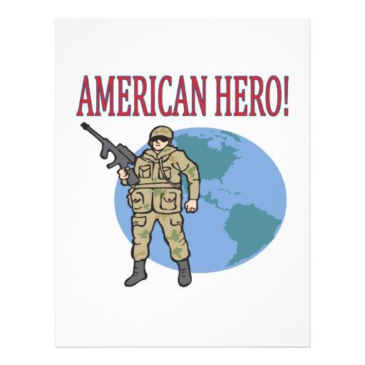Héroe americano flyer a todo color