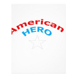 Héroe americano membrete a diseño