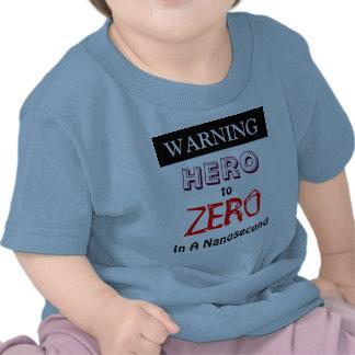 Héroe amonestador para poner a cero adentro un camiseta