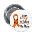 Héroe anaranjado de la cinta de la leucemia mi mam pin