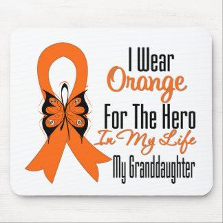 Héroe anaranjado de la cinta de la leucemia mi nie alfombrillas de raton