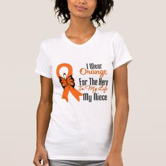 Héroe anaranjado de la cinta de la leucemia mi sob camiseta