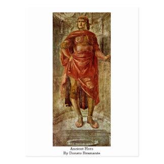 Héroe antiguo de Donato Bramante Tarjetas Postales