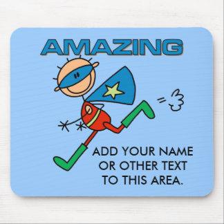 Héroe asombroso adaptable Mousepad del muchacho