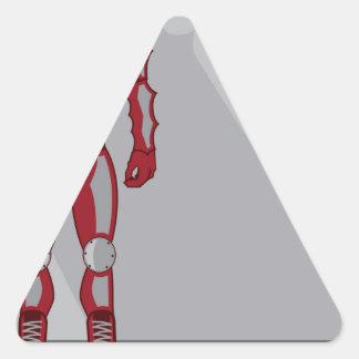 Héroe Castume Pegatina Triangular
