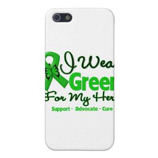 Héroe - cinta verde de la conciencia iPhone 5 protector