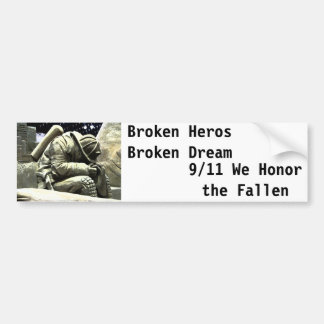 Héroe de Borken Pegatina De Parachoque