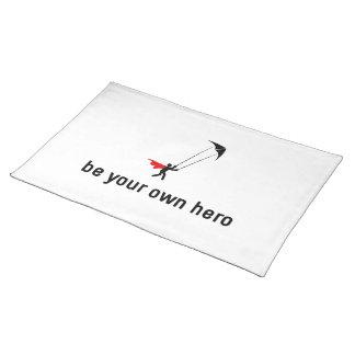 Héroe de Kiting del truco Manteles Individuales