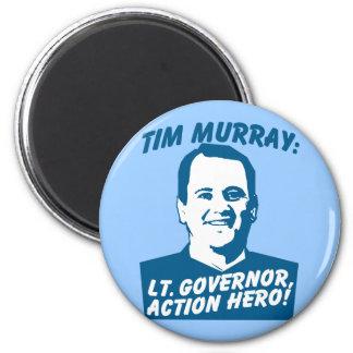 Héroe de la acción de Tim Murray Imán Redondo 5 Cm