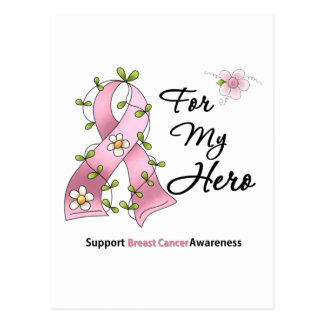 Héroe de la ayuda del cáncer de pecho tarjetas postales