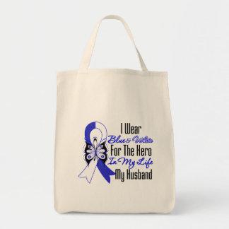 Héroe de la cinta del ALS en mi vida mi marido Bolsa Tela Para La Compra