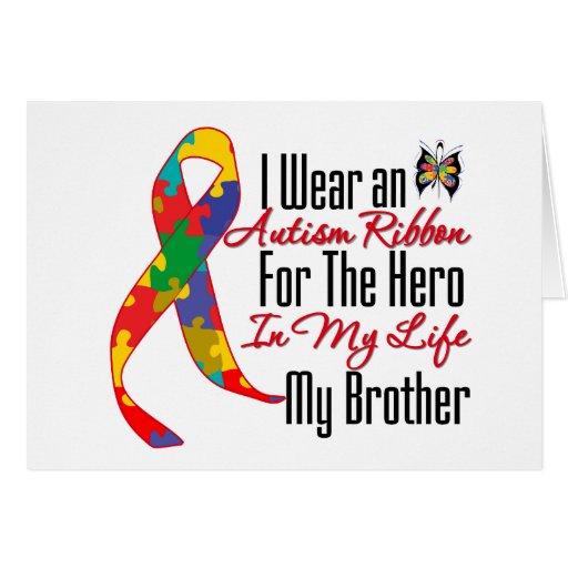 Héroe de la cinta del autismo en mi vida mi Brothe Tarjetas