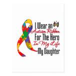 Héroe de la cinta del autismo en mi vida mi hija postal