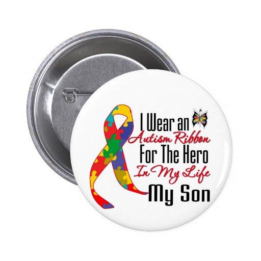 Héroe de la cinta del autismo en mi vida mi hijo pin