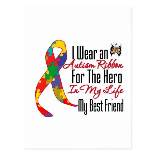 Héroe de la cinta del autismo en mi vida mi mejor postal