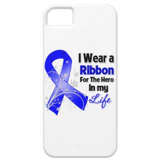 Héroe de la cinta del cáncer de colon en mi vida iPhone 5 fundas